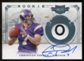 2011 Panini Plates and Patches Rookie Prime Signatures Laundry Tag #208 Christian Ponder Autograph 1/1