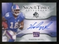 2009 Upper Deck SP Authentic Sign of the Times #STHN Hakeem Nicks Autograph