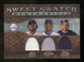2009 Upper Deck Sweet Spot Swatches Triple #ODF David Ortiz Carlos Delgado Prince Fielder
