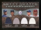 2009 Upper Deck Sweet Spot Swatches Quad #TOP Josh Hamilton/Albert Pujols/Derek Jeter/Ken Griffey Jr.