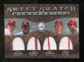 2009 Upper Deck Sweet Spot Swatches Quad #PHI Cole Hamels/Steve Carlton/Chase Utley/Mike Schmidt