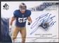 2009 SP Authentic #362 James Laurinaitis Rookie Auto #133/299