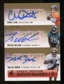 2007 Upper Deck SP Rookie Threads SP Multi Marks Autographs Triple #LNB Chris Leak/Reggie Nelson/Dallas Baker