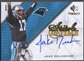 2009 SP Threads #SITJD Jake Delhomme Stitch in Time Auto