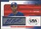 2004 USA Baseball #UPT B.J. Upton 25th Anniversary Signatures Blue Ink Auto #108/120