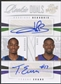 2009/10 Panini Season Update #41 Rodrigue Beaubois & Tyreke Evans Rookie Dual Auto #12/49