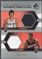 2004/05 SP Authentic #SR Ha Seung-Jin & Zach Randolph Fabrics Dual Jersey #065/100