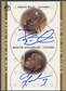 2000/01 SP Authentic #DAQR Darius Miles & Quentin Richardson Sign of the Times Double Rookie Auto