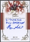 2013 Leaf Trinity #DIAM2 Aaron Mellette Inscriptions Gold Rookie Auto #08/10