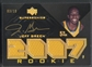 2007/08 UD Black #101 Jeff Green Gold Rookie Jersey Auto #03/10