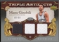 2007/08 Artifacts #MG Manu Ginobili Triple Jersey #03/50