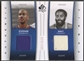 2006/07 SP Authentic #MF Stephon Marbury & Walt Frazier Fabrics Dual Jersey #024/100