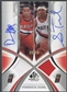 2005/06 SP Game Used #ST Damon Stoudamire & Sebastian Telfair Authentic Fabrics Dual Jersey Auto /50