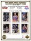 1992 Upper Deck Basketball First Round Draft Picks Commemorative Sheet Lot of 10