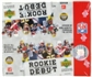 2006 Upper Deck Rookie Debut Football 28 Pack Box