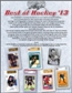 2013 Leaf Best Of Hockey Hobby 3-Box Case