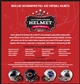 2013 Leaf Autographed Full-Sized Helmet Football Hobby 3-Box Case