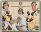 1992 Upper Deck Oakland A's 25th Anniversary Commemorative Sheet Rare Sample Lot of 10