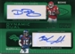 2009 Topps Unique Dynamic Dual Autographs #BM Dwayne Bowe Brandon Marshall /25