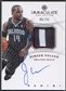 2012/13 Immaculate Collection #JN Jameer Nelson Red Patch Auto #06/25