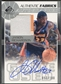 2003/04 SP Game Used #JRAJ Jason Richardson Authentic Fabrics Jersey Auto #057/100