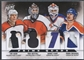 2012/13 Panini Prime #9 Tim Kerr Ron Hextall Mark Messier & Grant Fuhr Quad Patch #5/5