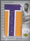 "2006/07 Chronology #189 James Worthy Letter ""T"" Patch Auto #27/40"