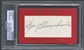 2010 Historic Autograph In Memory Of Johnny Blanchard Auto #1/4 PSA DNA