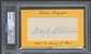 2010 Historic Autograph In Memory Of Floyd Stromme Auto #1/1 PSA DNA