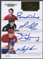 2011/12 Dominion #7 Gordie Howe Mario Lemieux Mark Messier Steve Yzerman Pen Pals Quads Auto #4/5