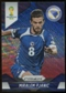 2014 Panini Prizm World Cup Prizms Blue and Red Wave #25 Miralem Pjanic