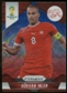 2014 Panini Prizm World Cup Prizms Blue and Red Wave #184 Gokhan Inler