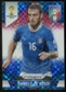 2014 Panini Prizm World Cup Prizms Red White and Blue #127 Daniele De Rossi
