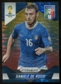 2014 Panini Prizm World Cup Prizms Yellow and Red Pulsar #127 Daniele De Rossi