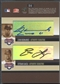 2005 Donruss Signature #61 Marlon Byrd Jose Guillen Livan Hernandez Esteban Loiaza INKcredible Quad Auto