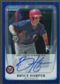 2011 Bowman Chrome #BCP111B Bryce Harper Prospect Blue Refractor Rookie Auto #009/150