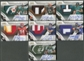 2009 Playoff National Treasures Gold Rookie Patch Auto Set /25 Stafford McCoy Harvin Crabtree Maclin Sanchez