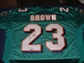 Ronnie Brown Autographed Miami Dolphins Teal Authentic Football Jersey