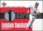 2003 Upper Deck Leading Swatches Jersey #JE Jim Edmonds RUN