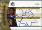 2005 Upper Deck SP Authentic Sign of the Times Dual #NT Nate Burleson Troy Williamson Autograph /50