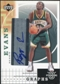 2003/04 Upper Deck Standing O Graphs #RE Reggie Evans SP Autograph