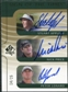 2003 Upper Deck SP Authentic Sign of the Times Triple #SNP Stuart Appleby Nick Price Peter Leonard Auto /25