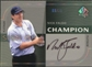 2003 Upper Deck SP Authentic Sign of a Champion Platinum #NF Nick Faldo Autograph /25