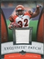 2006 Upper Deck Exquisite Collection Patch Silver #EPRJ Rudi Johnson /50