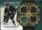 2007/08 Upper Deck Black Diamond Jerseys Gold Triple #BDJJO Jonathan Cheechoo /25