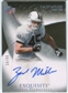 2007 Upper Deck Exquisite Collection Gold #102 Zach Miller Autograph /60