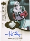 2007 Upper Deck Exquisite Collection Signature Swatches Patch #CO Jerricho Cotchery Autograph /25