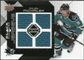 2008/09 Upper Deck Black Diamond Jerseys Quad #BDJMI Milan Michalek