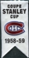 2008/09 Upper Deck Montreal Canadiens Mini Banners 1958-59 Stanley Cup