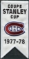 2008/09 Upper Deck Montreal Canadiens Mini Banners 1977-78 Stanley Cup